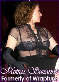 Mistress Suzanne at Dungeon Femme Fatale in Minneapolis, Minnesota (Formerly of Mistress Jacquie's Dugeon of Wrapture in St. Paul, MN)