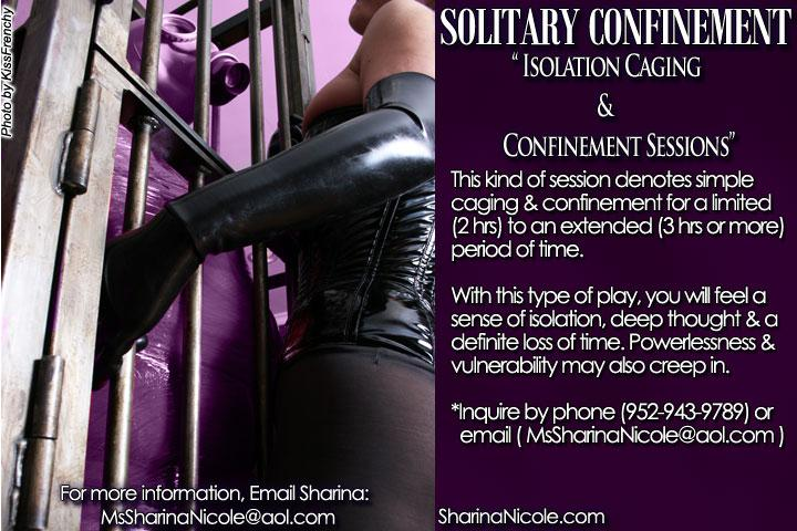 BDSM Caging & Confinement Sessions - and / or Sensory Deprivation Sessions