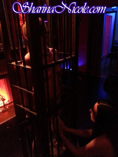 BDSM Confinement Session in Mr. S Heavy Steel Stand-up Cage