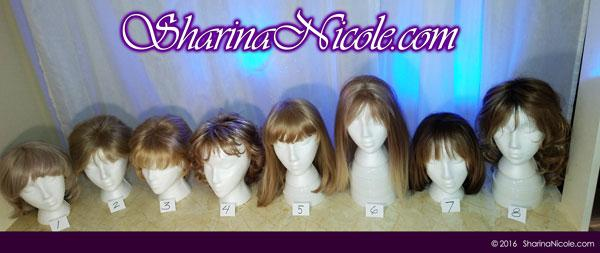 Minneapolis dominatrix Mistress Sharina Nicole's Crossdressing Wigs 1-8