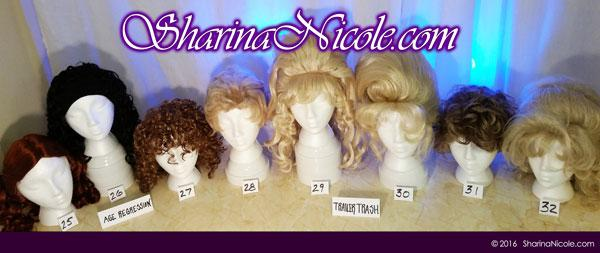 Minneapolis dominatrix Mistress Sharina Nicole's Crossdressing Wigs 25-32