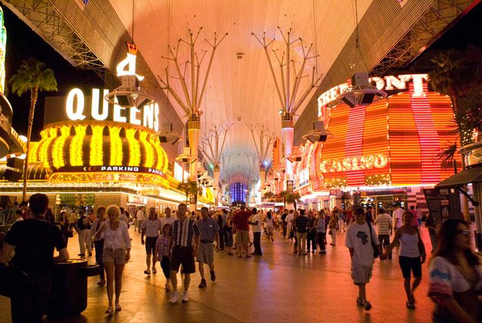 Las Vegas Fremont Street Experience Before The Light Show Starts small