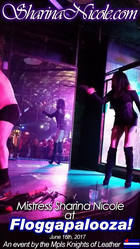 Dominatrix Mistress Sharina Nicole at Floggapalooza! an event at the Saloon by the Mpls Knights of Leather