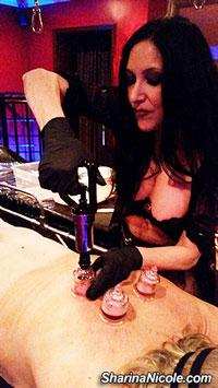 Mpls, MN Mistress Sharina Nicole bondage session with cupping