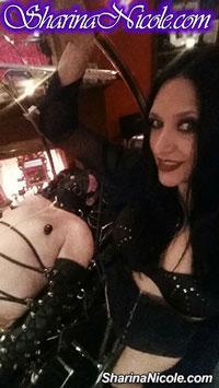 Mistress Sharina Nicole with traction bondage