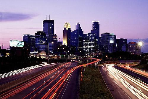 downtown Minneapolis, Minnesota skyline - hotels near MSP airport, MOA (Mall of America) & Sharina Nicole's studio