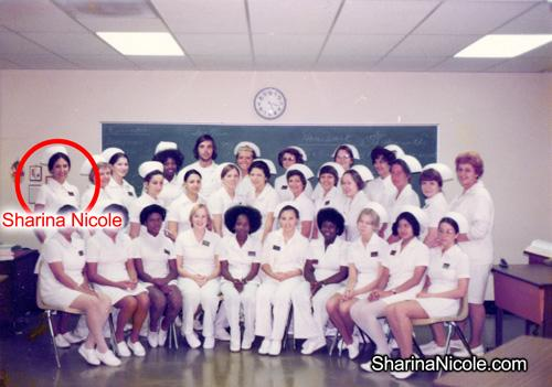 Sharina Nicole in school for medical training